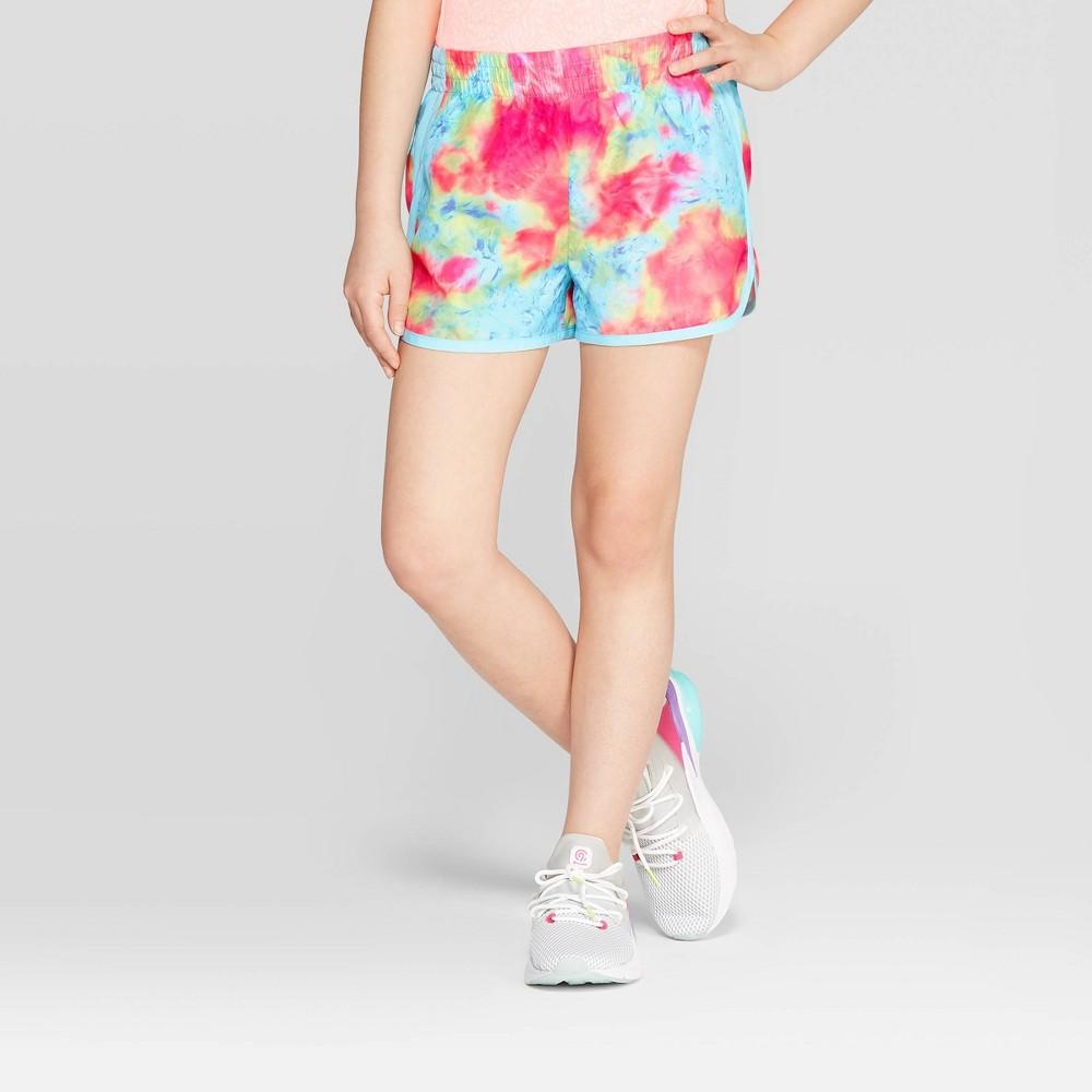 daa23de9 Girls Woven Run Shorts C9 Champion Blue Tie Dye M