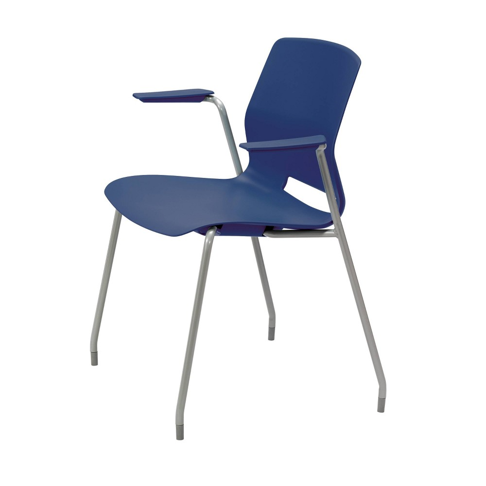 Lola Office Stack Chair with Arms Navy (Blue) - Olio Designs