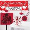 3ct Graduation School Spirit Tablecloth Red - image 3 of 4