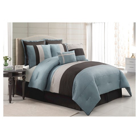 Essex Comforter Set King Aqua 8 Piece - VCNY® - image 1 of 1