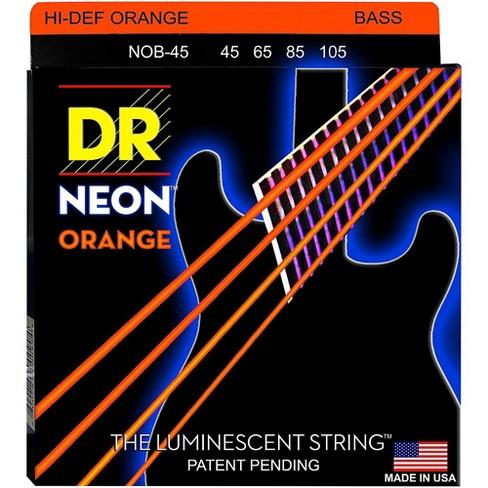 DR Strings NEON Hi-Def Orange Bass SuperStrings Medium 4 String - image 1 of 2