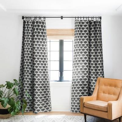 Caroline Okun Majestic Crane Single Panel Blackout Window Curtain - Deny Designs