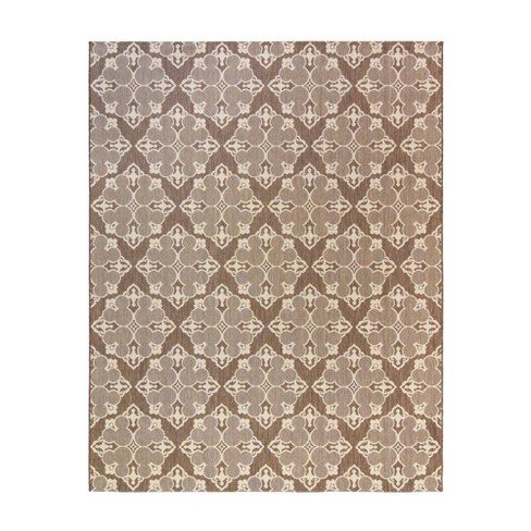 Mickey Mouse & Friends Medallion Havana Outdoor Rug Brown - image 1 of 3