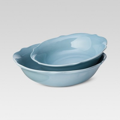 Wellsbridge Serving Bowl Set of 2 Aqua - Threshold™