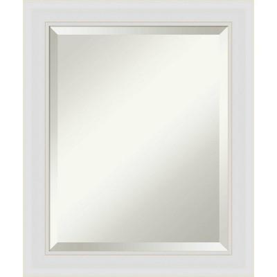 "20"" x 24"" Flair Framed Bathroom Vanity Wall Mirror Soft White - Amanti Art"
