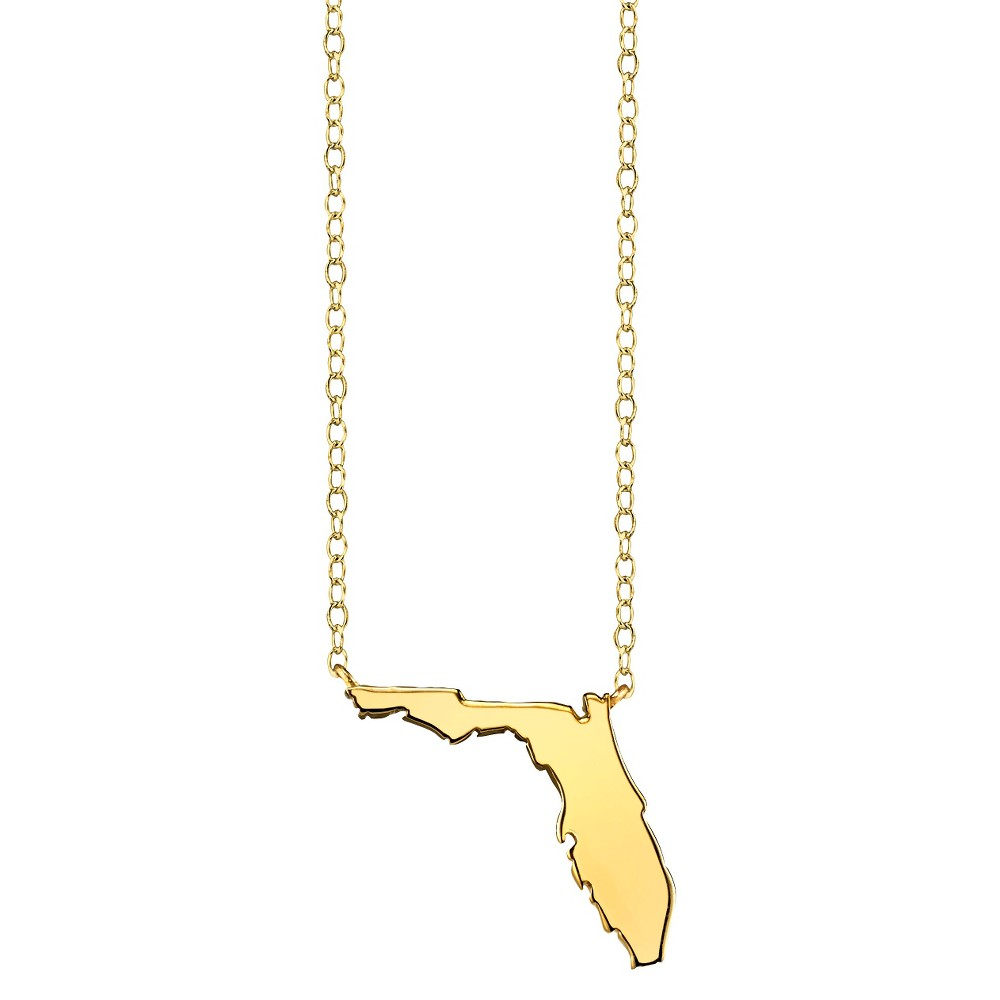 Footnotes State Pendant - Gold, Girl's, Florida