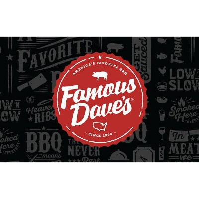 Famous Dave's BBQ Gift Card (Email Delivery)