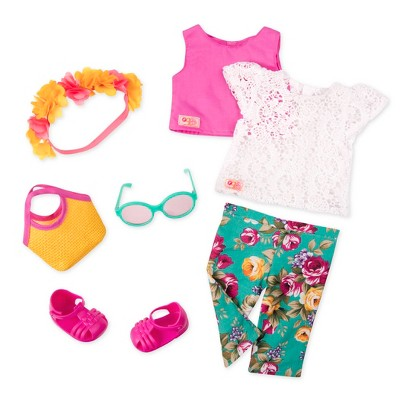 """Our Generation Deluxe Outfit for 18"""" Dolls - Fiesta in Flower"""