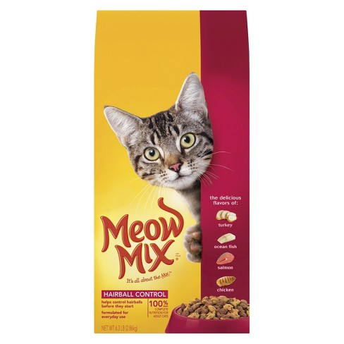 Meow Mix Hairball Control Dry Cat Food - 6.3lbs - image 1 of 1