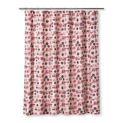 Owl Ya Doin Shower Pink Curtain - Homewear