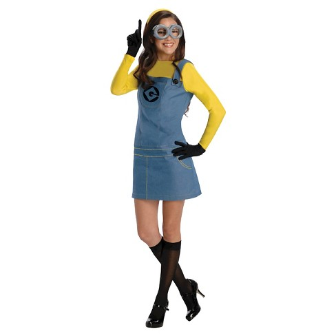 Adult Despicable Me Lady Minion Halloween Costume L - image 1 of 1