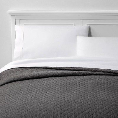 King Family Friendly Solid Quilt Gray - Threshold™