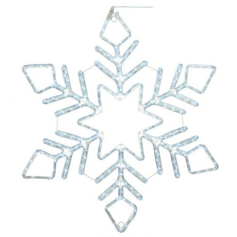 Vickerman Twinkle Star Snowflake String Lights LED Pure White - image 1 of 1