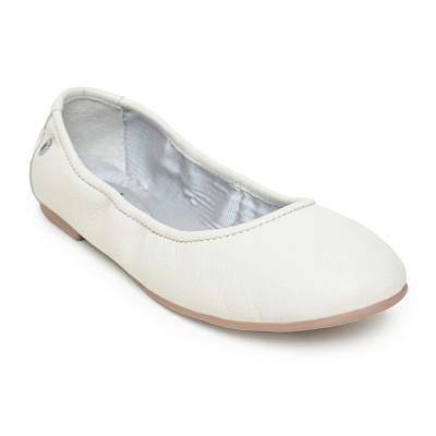 Minnetonka Women's Leather Anna Ballerina Flat