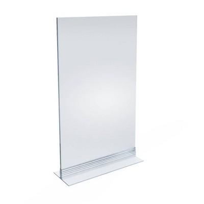 "Azar Displays 8.5"" X 14"" 10pk Vertical/Horizontal T - Strip Sign Holder"