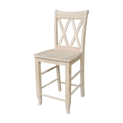 "24"" Double X Back Counter Height Barstool - International Concepts"