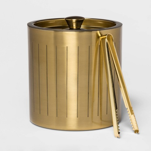 3L Stainless Steel Ice Bucket with Tongs Gold - Project 62™ - image 1 of 1