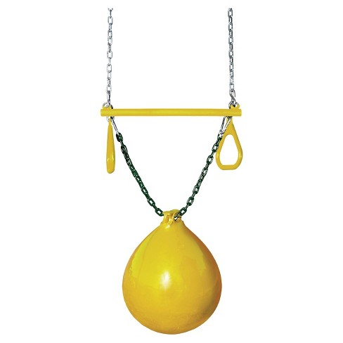 Gorilla Playsets Buoy Ball with Trapeze Bar - Yellow - image 1 of 2