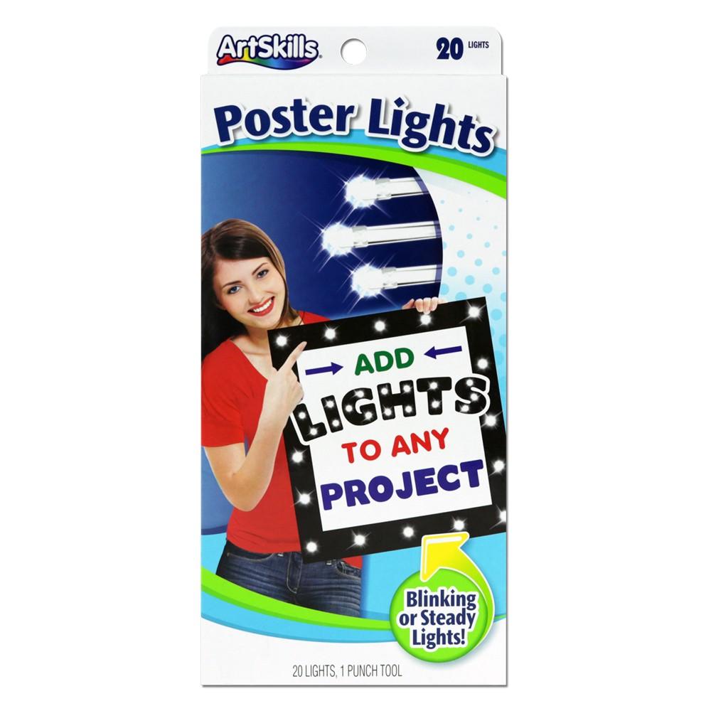 Image of 20ct LED Poster Lights - ArtSkills