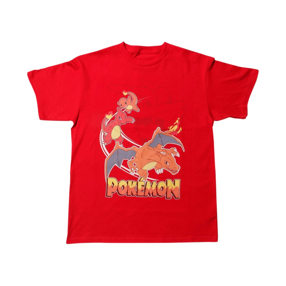 Boys' Pokémon Charizard Morph Short Sleeve T-Shirt - Red M