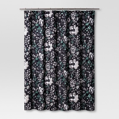Shower Curtain Floral Navy - Threshold™