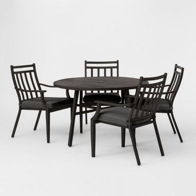 Fairmont 5pc Patio Dining Set - Charcoal - Threshold™