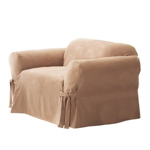 Soft Suede Chair Slipcover Sable - Sure Fit