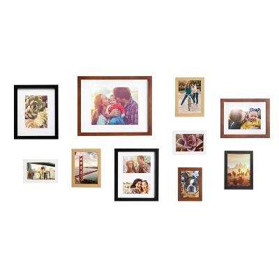 10pc Gallery Frame Box Set Multi - Kate & Laurel All Things Decor