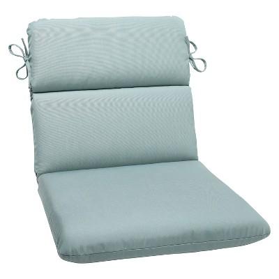 Sunbrella® Canvas Outdoor Rounded Edge Chair Cushion - Blue