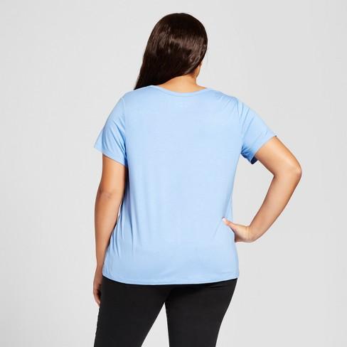 c674cd4849f Women s Plus Size Perfect Short Sleeve T-Shirt - Ava   Viv™   Target