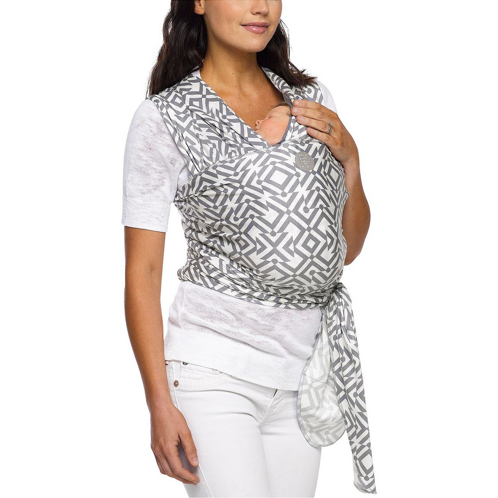 Moby Wrap Petunia Pickle Bottom Mazes of Milano Stone Baby Carrier, Gray