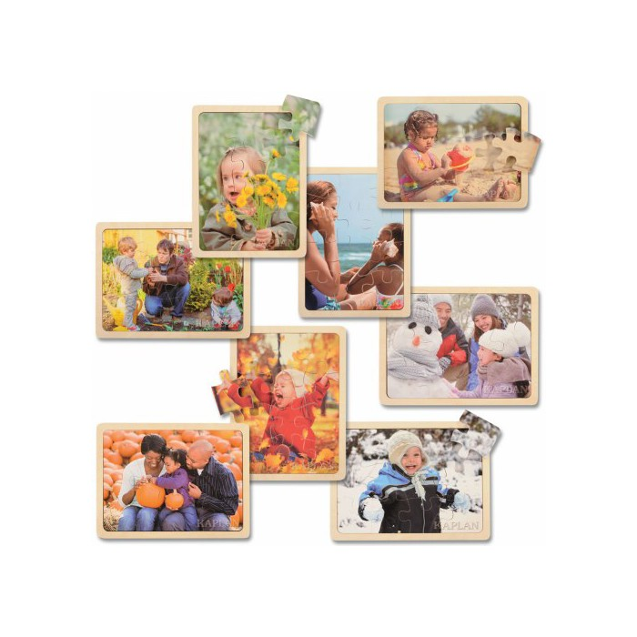 Kaplan Early Learning Four Seasons Puzzle Set  - Set of 8 - image 1 of 6