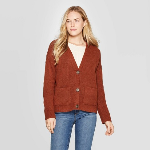 Women's Long Sleeve V-Neck Cardigan - Universal Thread™ - image 1 of 3