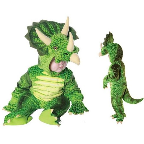Underwraps Costumes Green Triceratops Plush Baby Costume - image 1 of 1