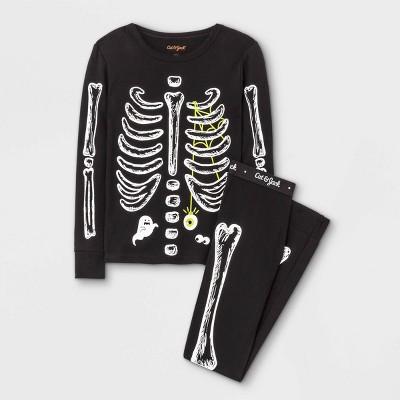 Boys' 2pc Skeleton Tight Fit Pajama Set - Cat & Jack™ Black