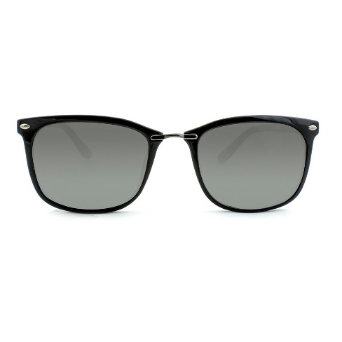 Women's Square Sunglasses - A New Day™ Black - image 1 of 3