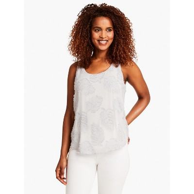 NIC+ZOE Women's Light As A Feather Tank Pale Smoke