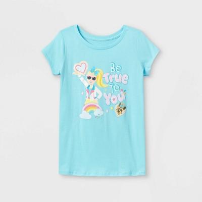 Girls' JoJo Siwa Be True to You Short Sleeve Graphic T-Shirt - Blue