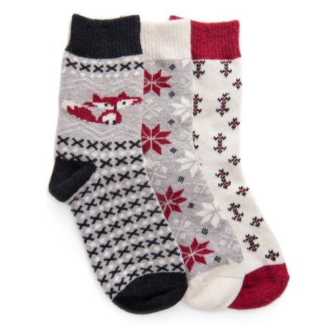 womens muk luks 3pk holiday boot socks target - Christmas Socks Target