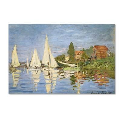 """22"""" x 32"""" Regatta at Argenteuil by Claude Monet - Trademark Fine Art"""