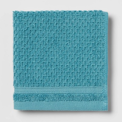 Performance Washcloth Turquoise Texture - Threshold™