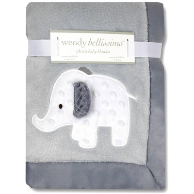 Wendy Bellissimo Elephant 2 Ply Plush Blanket