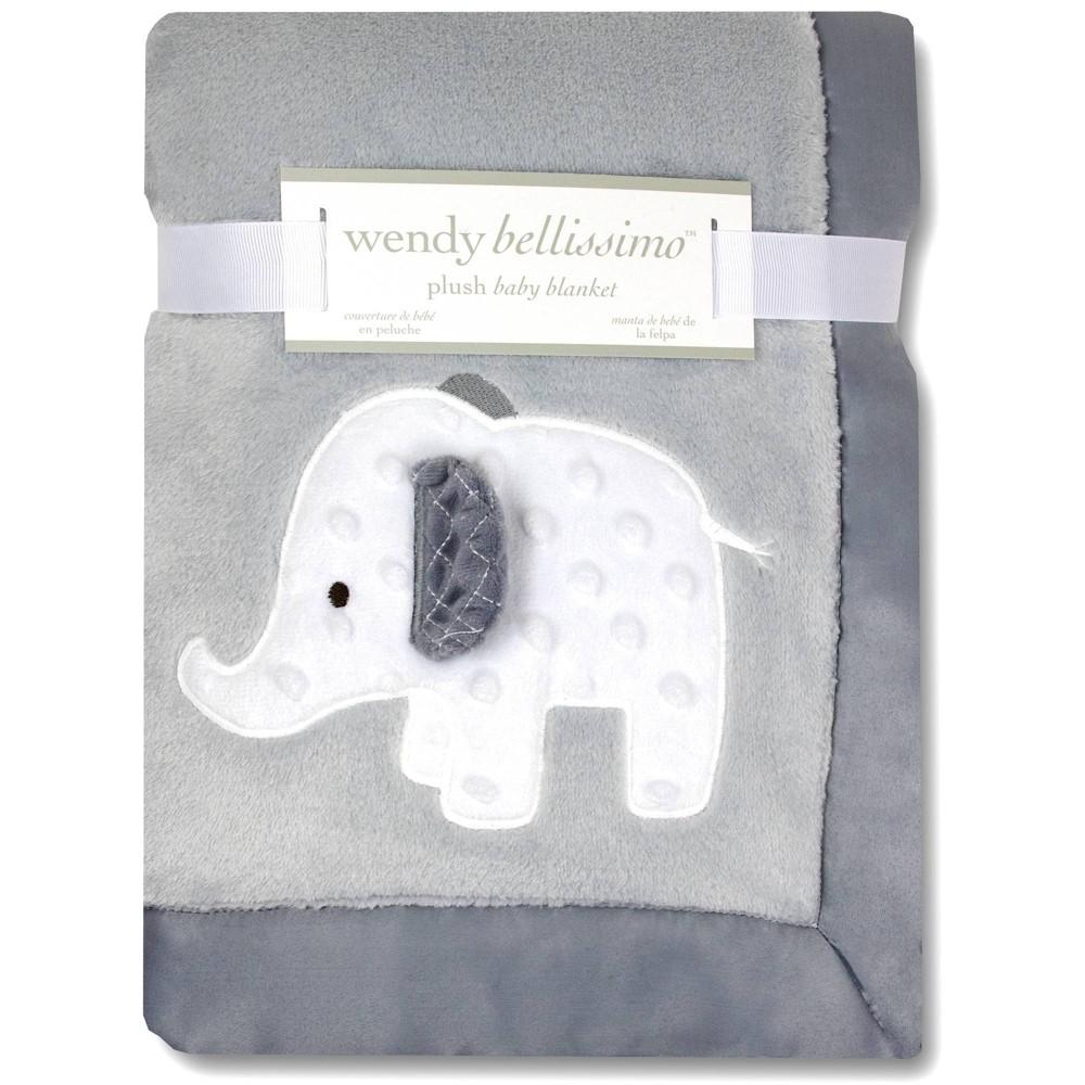 Image of Wendy Bellissimo Elephant 2 Ply Plush Blanket