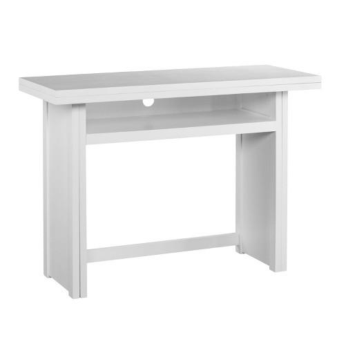 Tremendous Klint Convertible Console To Dining Table White Aiden Lane Machost Co Dining Chair Design Ideas Machostcouk