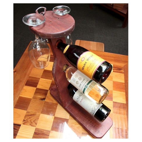 Table Top 17 Wine Rack Western Clear Oil Finish Red Cedar