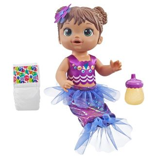 Baby Alive Shimmer n Splash Mermaid Baby Doll - Brown Hair