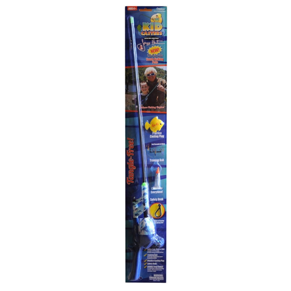 Image of Kid Casters Jimmy Houston No Tangle Fishing Rod - Blue