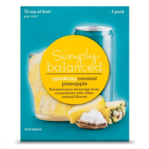 Sparkling Pineapple Coconut - 4pk/8.4 fl oz Bottles - Simply Balanced™ - image 1 of 1