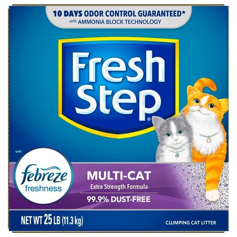 Fresh Step Multi-Cat Scented Litter with the Power of Febreze Clumping Cat Litter - 25lb - image 1 of 4