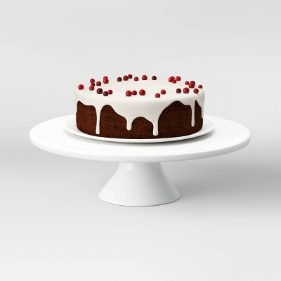 "12"" Porcelain Cake Stand White - Threshold™"